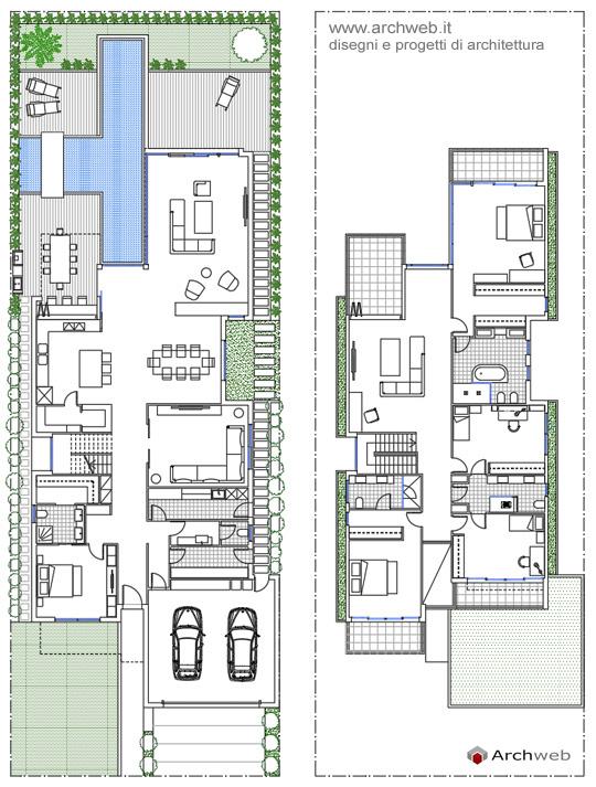 Villa unifamiliare dwg for Aggiunte a casa su due livelli