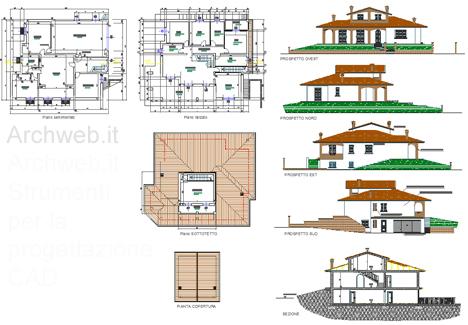 Villette residenze estive for Planimetrie seminterrato