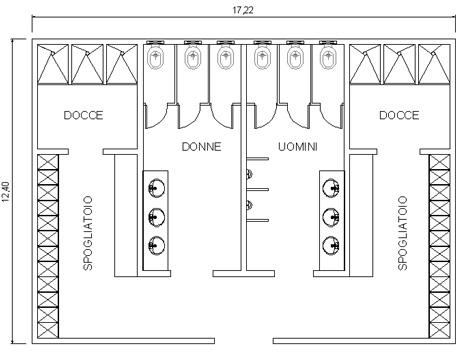 Dimensioni Armadietti Per Spogliatoi.Servizi Spogliatoi 2 Dwg