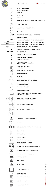 Schema Elettrico Lampada : Simboli elettrici dwg simboli impianto elettrico