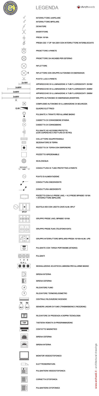 Simbologia Schemi Elettrici Industriali : Simboli elettrici dwg impianto elettrico