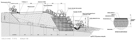 Sistemazioni terreno e scarpate gabbioni a sacco for Strutture metalliche dwg