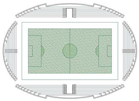 Calcio 2d Campo Di Calcio Dwg Soccer Dwg