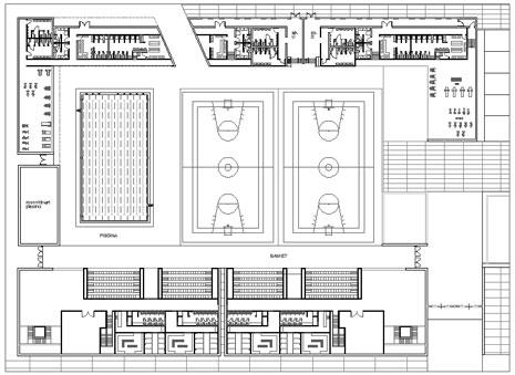 Impianti sportivi dwg sporting installations dwg - Dimensioni minime cucina bar ...