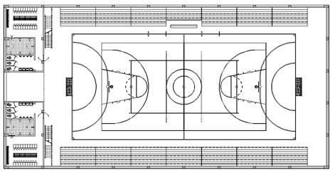 Impianti sportivi dwg sporting installations dwg for Arredi spogliatoi dwg