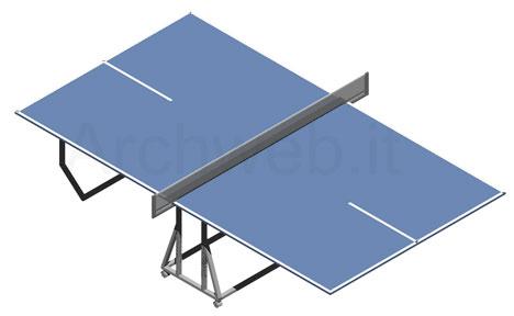 Ping pong 3d tennis tavolo 3d for Arredi spogliatoi dwg