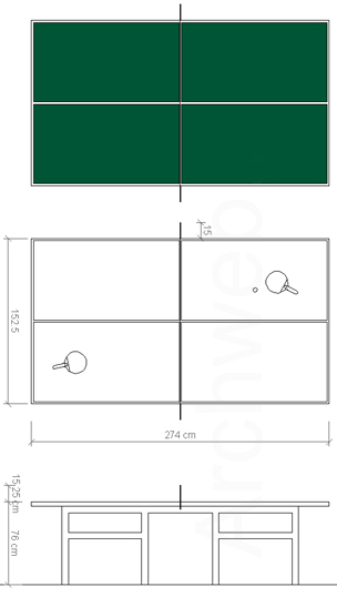 Ping Pong Table Plan ping pong table autocad block step-by-step plans ...