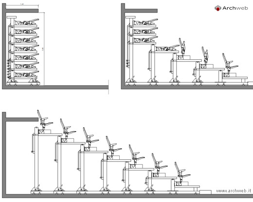 Telescopic Tribune System Cad Drawings